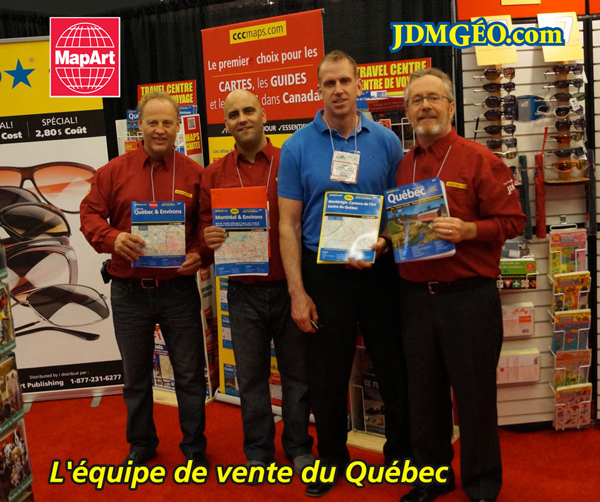 MapArt Sales Team in Quebec 2015