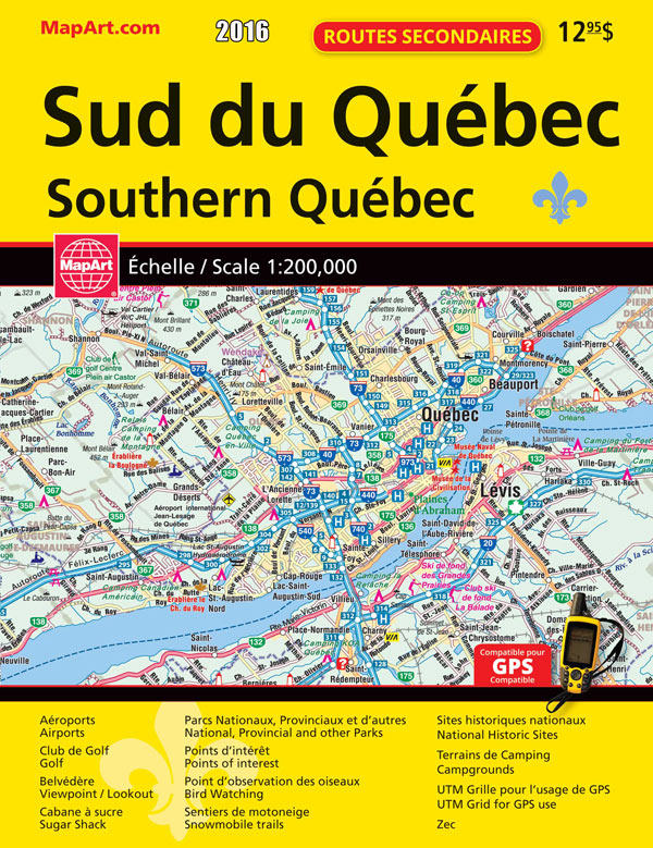 mapart quebec road atlas